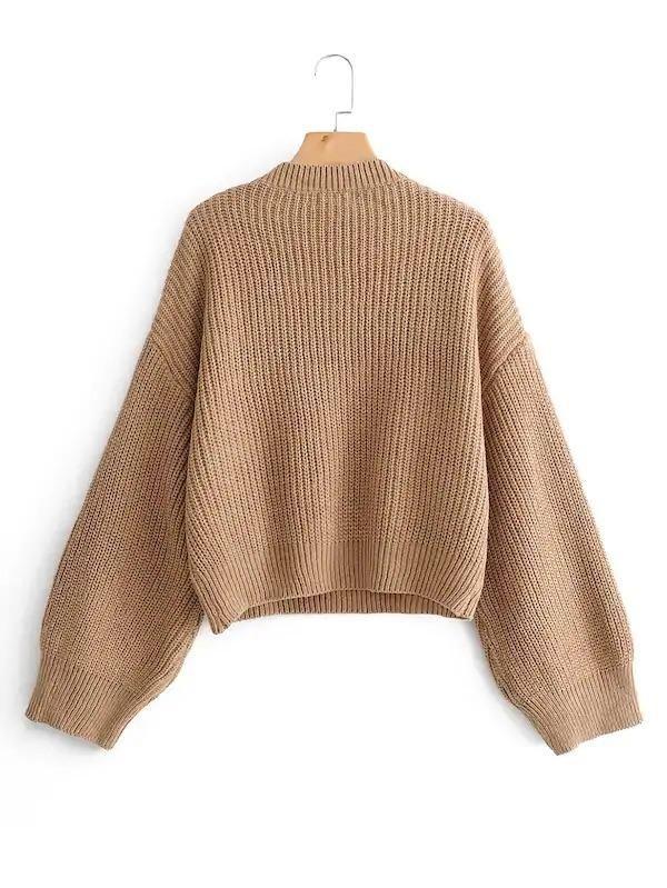 Eyelash Lace Panel Drop Shoulder Jumper | Ribbed knit
