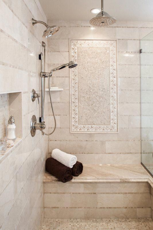 Crema Marfil 1 X 12 Marble Bullnose Tile Trim In Crema Marfil Classic Bathroomshowerglass Bathroom Remodel Shower Shower Remodel Bathrooms Remodel