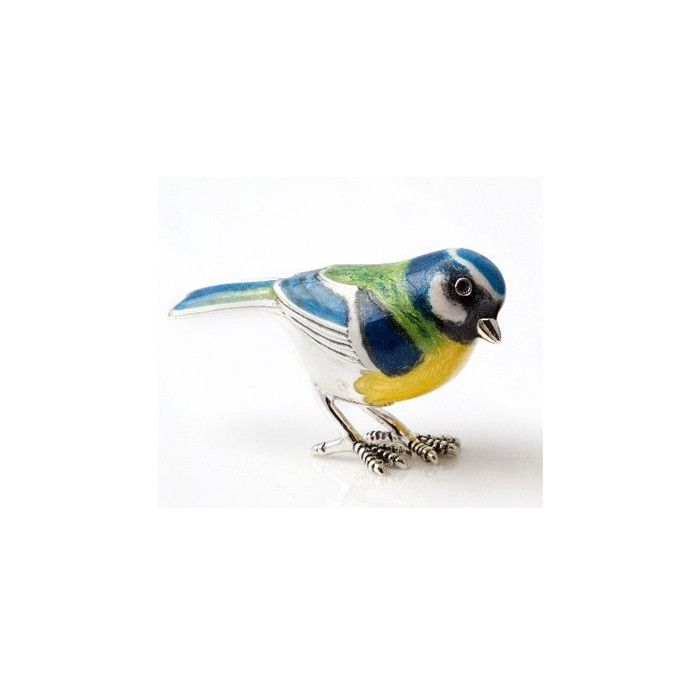 Sterling Silver Blue Tit By Saturno A-12868-L | Saturno Silver Animals