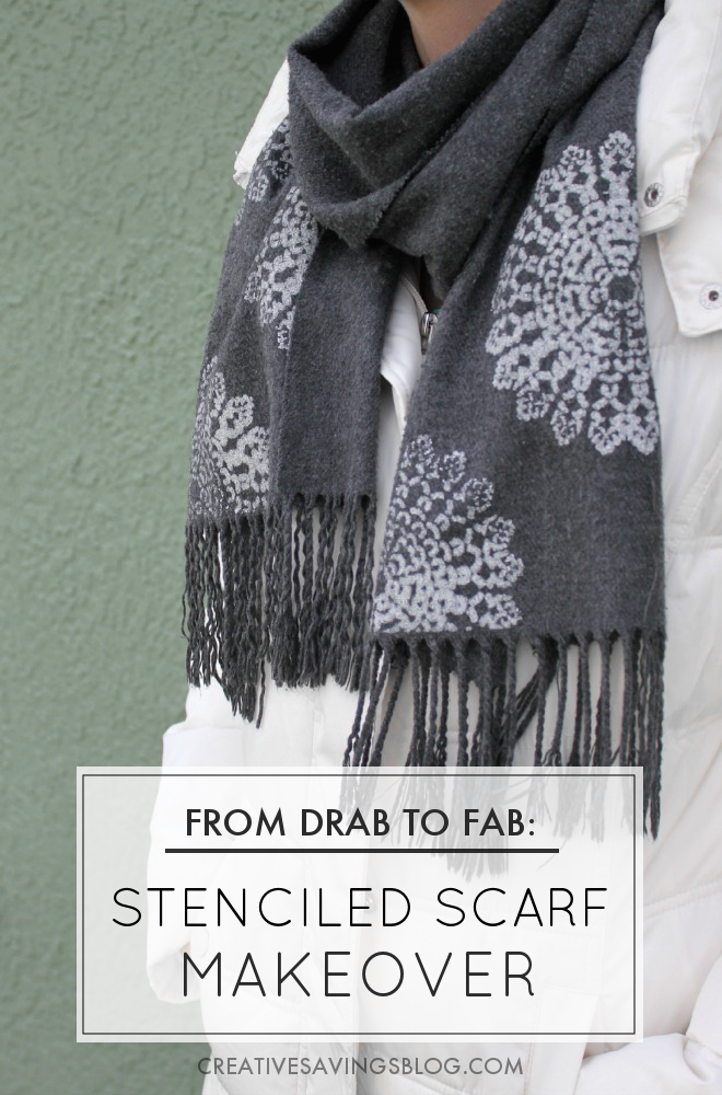 From Drab to Fab: Stenciled Scarf Makeover