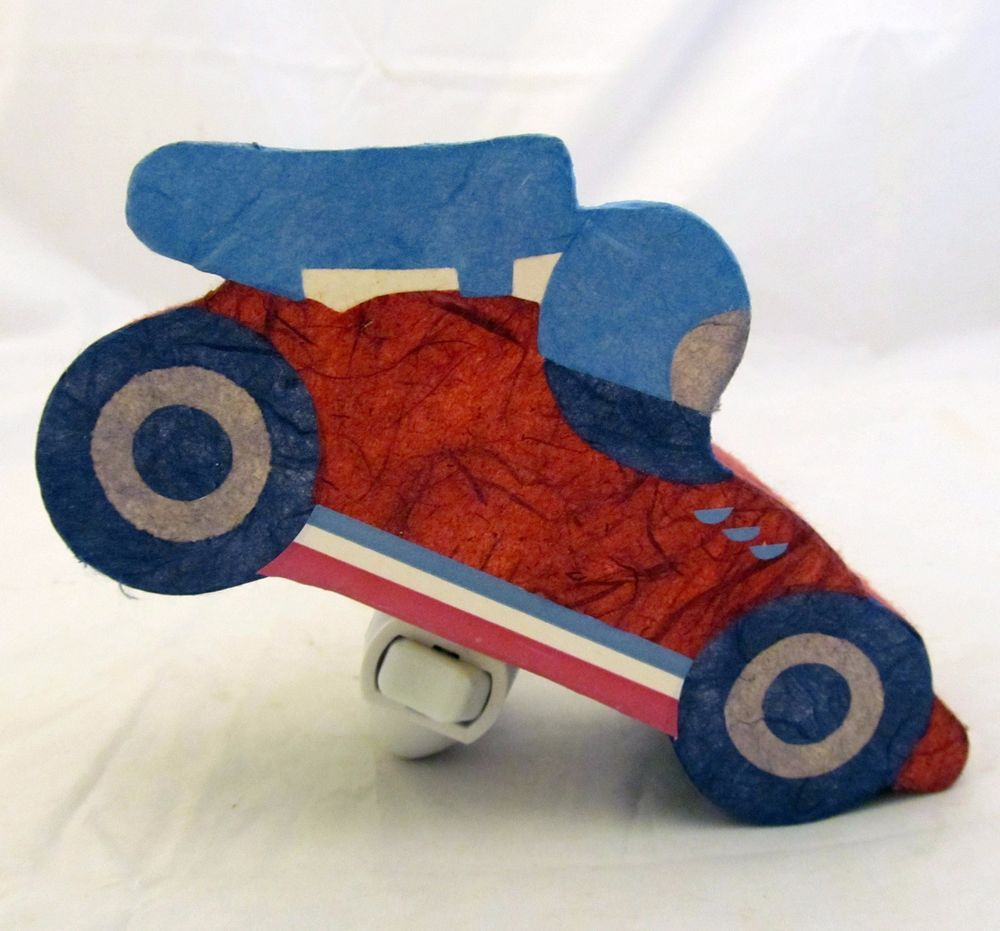 Pottery Barn Kids Night Light Lite Sports Race Car Vehicle Shape