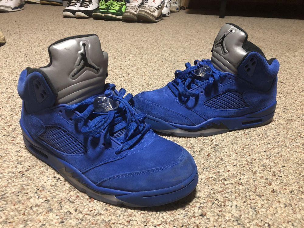 (eBay link) Air Jordan V 5 Retro Game Royal Blue Suede 136027-401 Size 10.5   fashion  clothing  shoes  accessories  mensshoes  athleticshoes da7640256