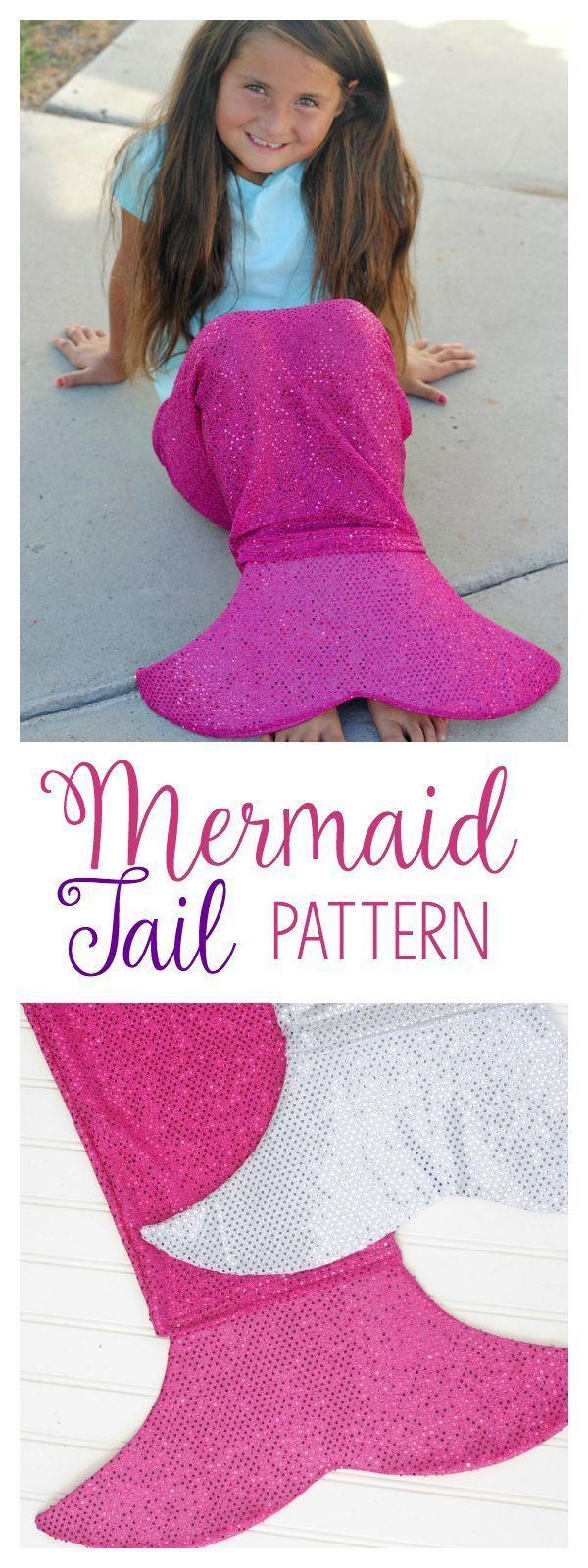 Mermaid Tail Sewing Tutorial   Diy nähen, Meerjungfrauen und Nähen