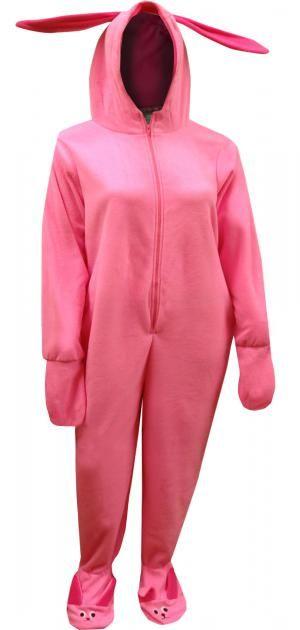3aea469fef WebUndies.com Christmas Story Ralphie Deranged Easter Bunny One Piece Pajama