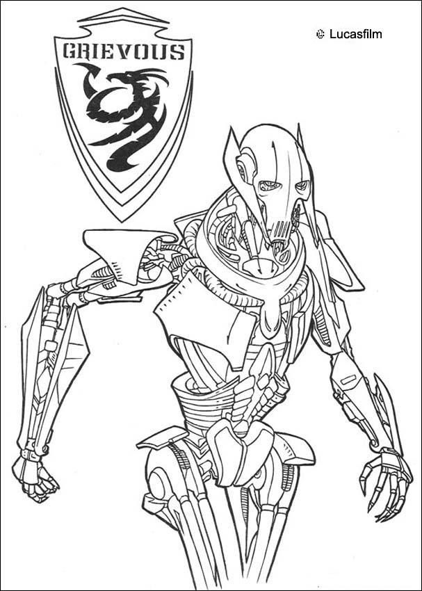 grievous star wars coloring pages