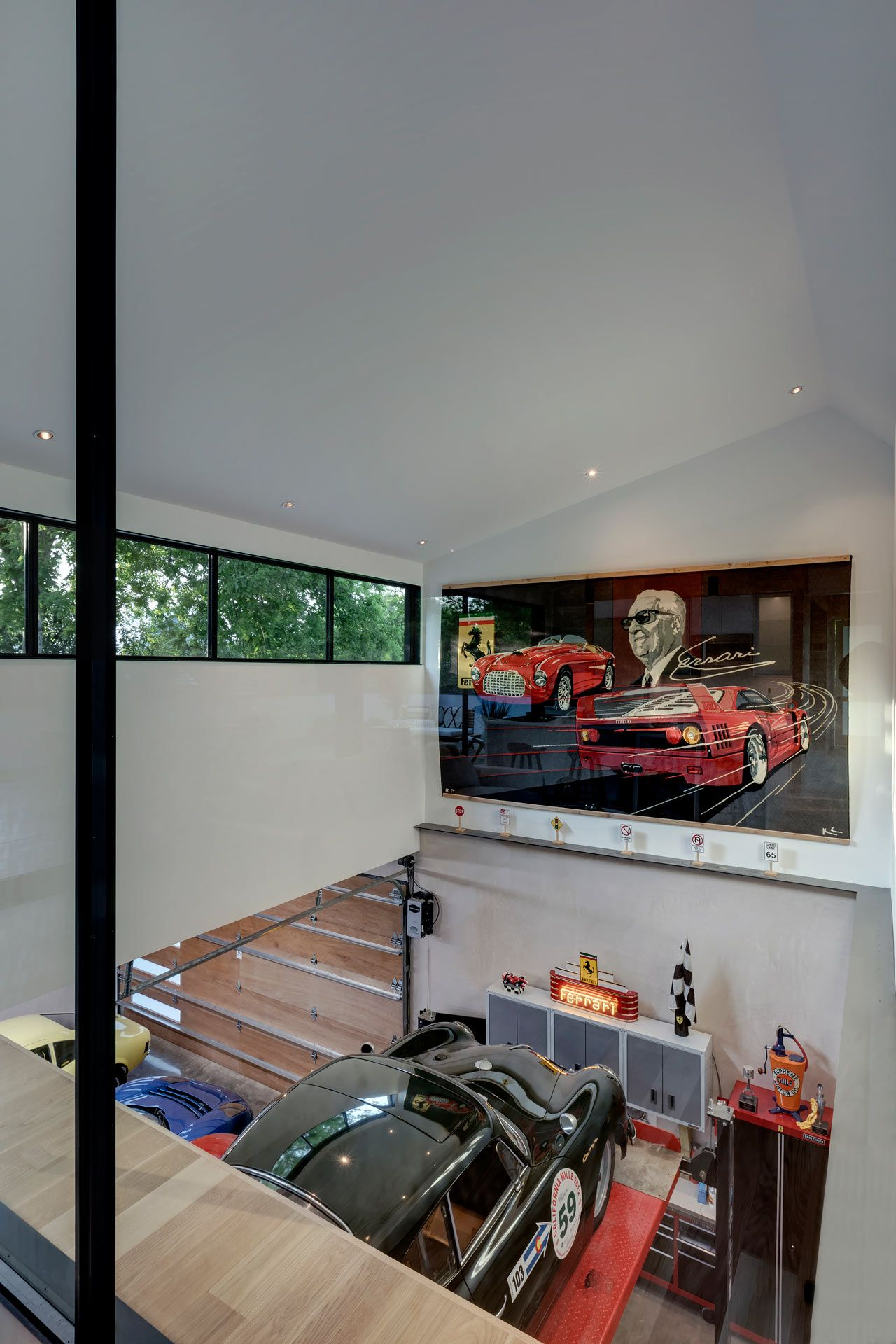 Garage Racks Austin Tx A Car Collector S Modern Residence By Matt Fajkus Architecture