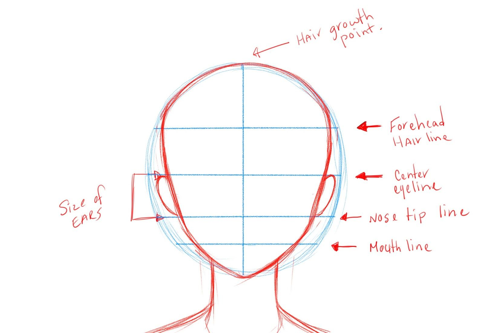 Anime Face Template Anime Hair Anime And How To Draw Anime On Anime Drawings Anime Drawing Styles Drawing Templates
