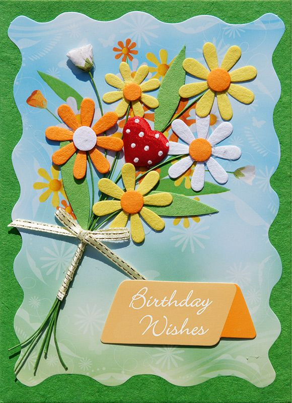 Handmade Birthday Card   Click Card To Zoom  Birthday Card Sample