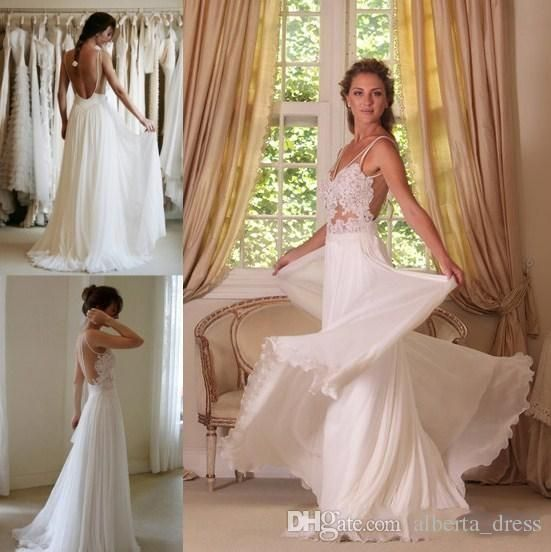 Aliexpress.com : Buy MANSA Sexy Lace Beach Wedding Dress 2015 High