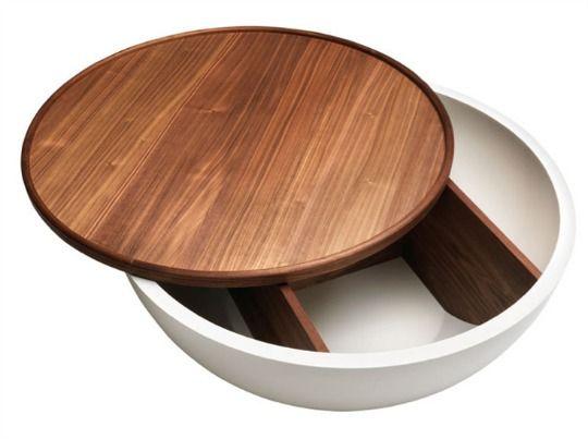 Good Bowl Coffee Table White Oiled Oak Top