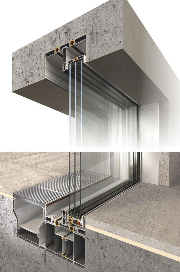 Frameless Glazing Systems : Carpintería aluminio detalles constructivos