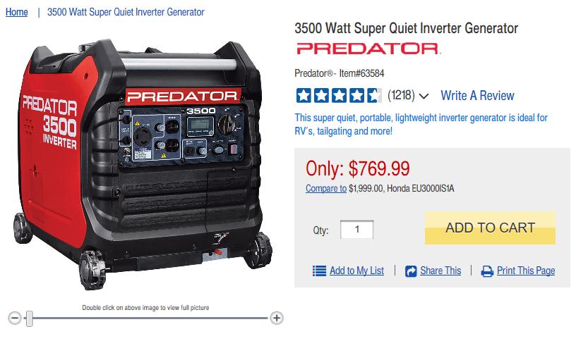 3500 Watt Super Quiet Inverter Generator in 2020