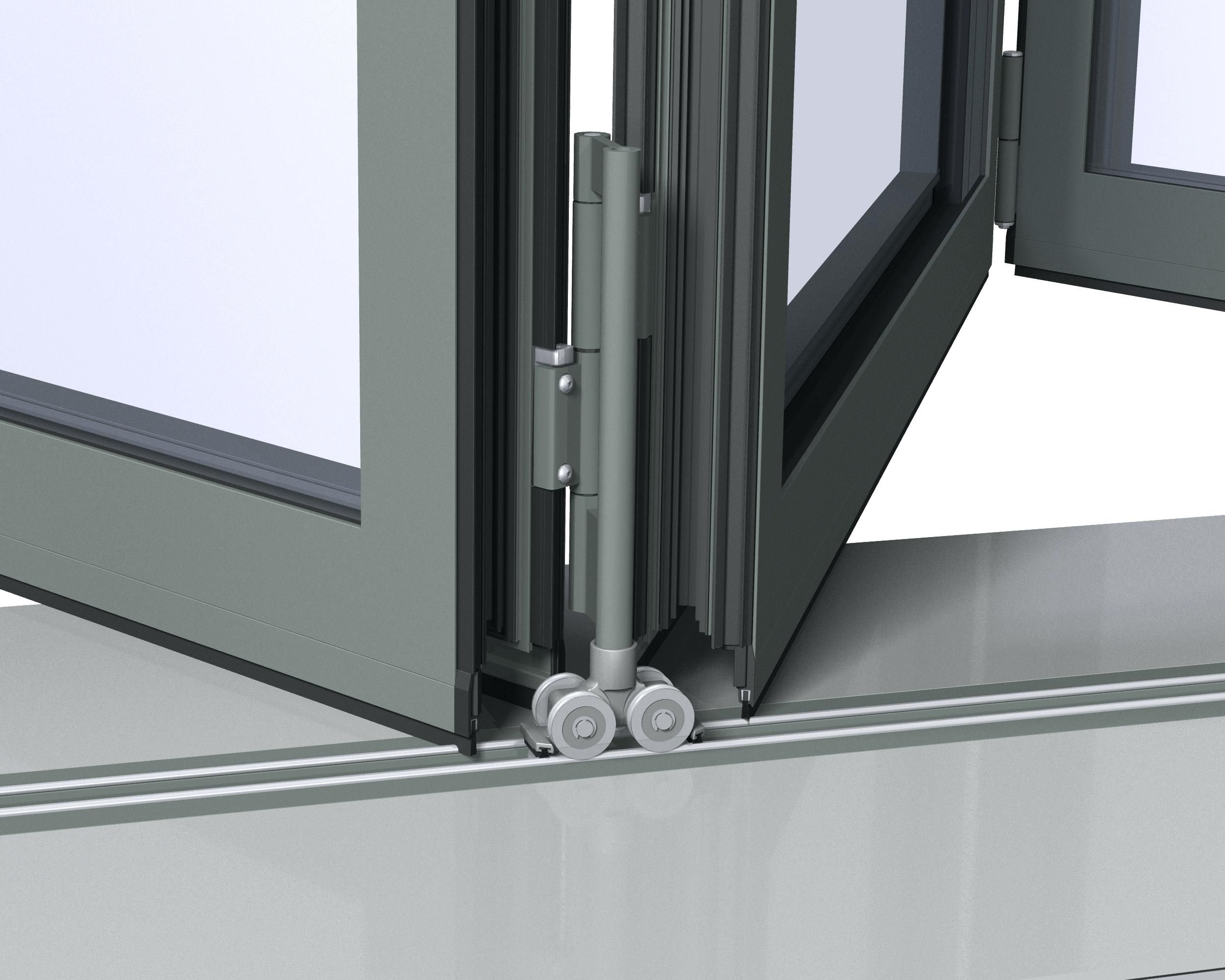 Sliding Glass Door Track Roller Rail Folding Door Hardware Glass Door Glass Door Coverings