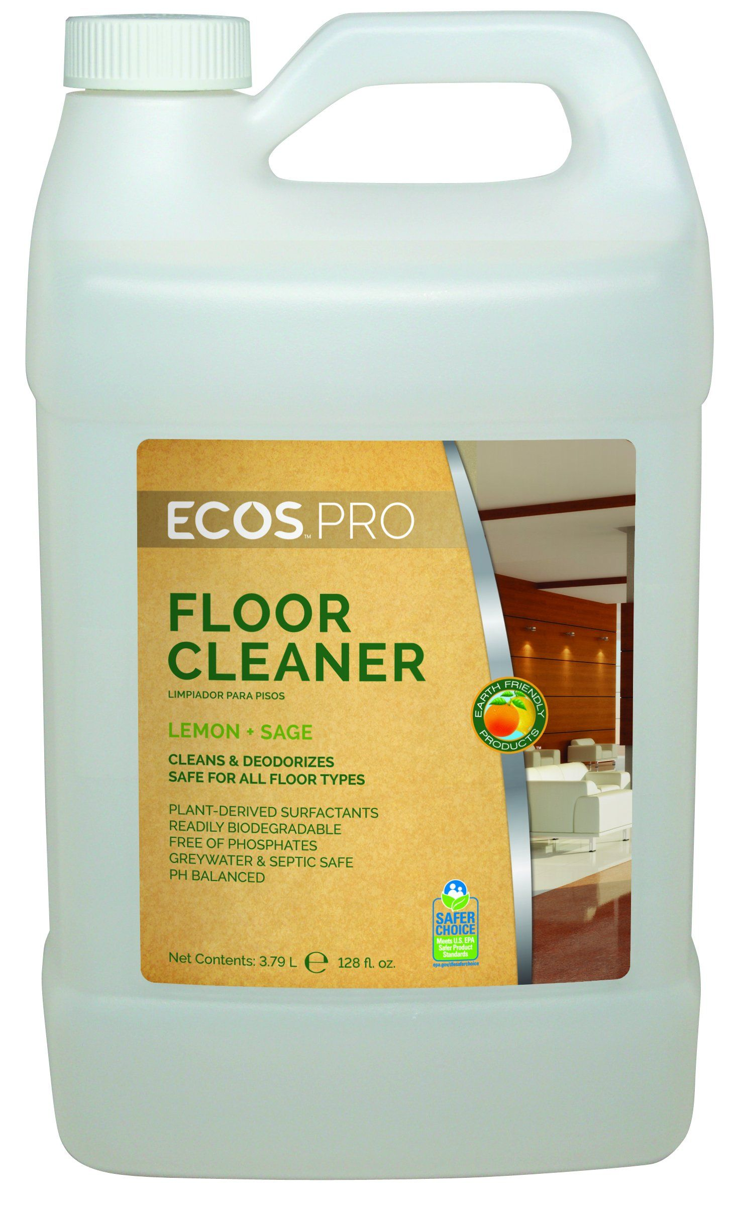 Earth Friendly Products Proline Pl9725 04 Floor Kleener Hardwood And Hard Surface Floor Cleaner 1 Gallon Bottles Floor Cleaner Flooring Biodegradable Products