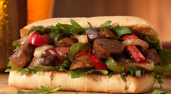 Italian Pepper and Sausage Sandwiches - A party in your mouth. For reals.