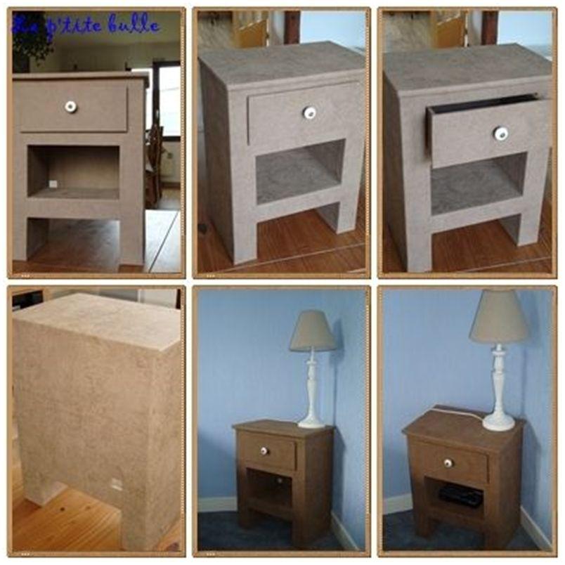 CartonEt ChevetCartons Meuble Table En Carton De trdxBshCQ