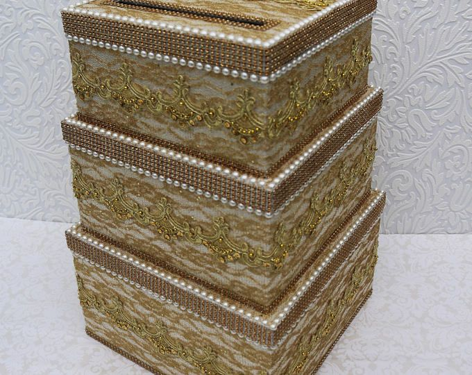 Gorgeous White Satin Wedding card box + Free Wedding Picture frame ...