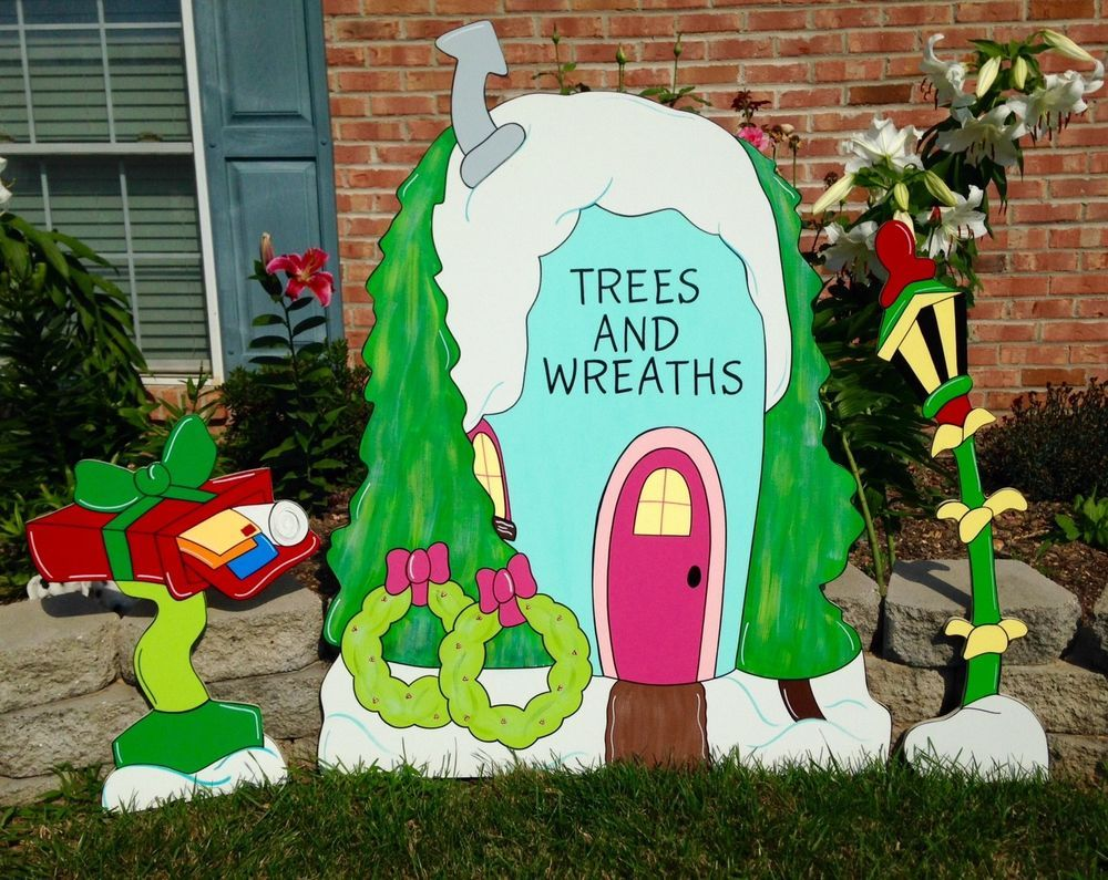 Grinch Yard Art Decorations Whoville Tree Shop With Extras Grinch
