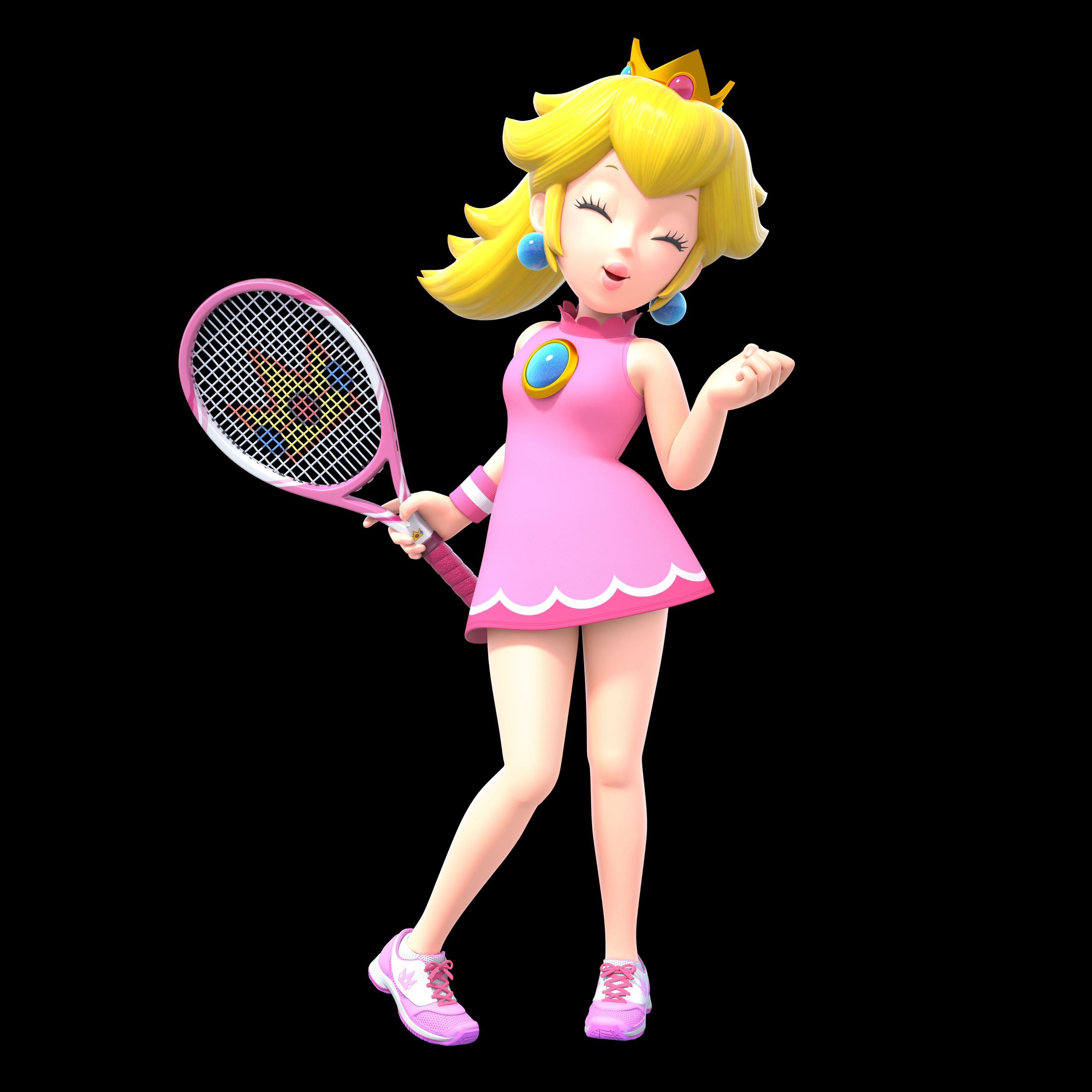 Peach Mario Tennis Aces Peach Mario Peach Mario Bros Mario And Princess Peach