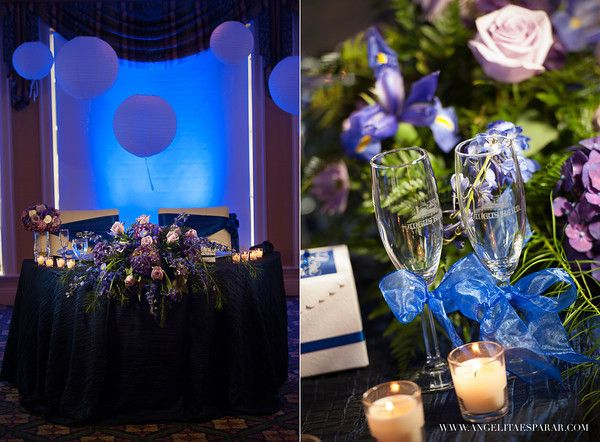 Purple and blue romantic wedding decor angelitaesparar purple and blue romantic wedding decor angelitaesparar jacksonville fl wedding junglespirit Image collections