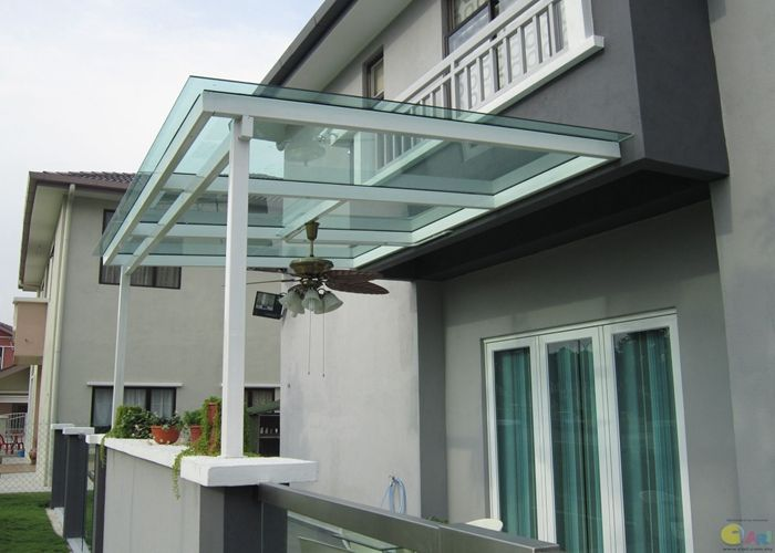 Bayer / Sabic Clear Canopy polycarbonate door awning sheet / panels  PC solid sheet & Bayer / Sabic Clear Canopy polycarbonate door awning sheet ...