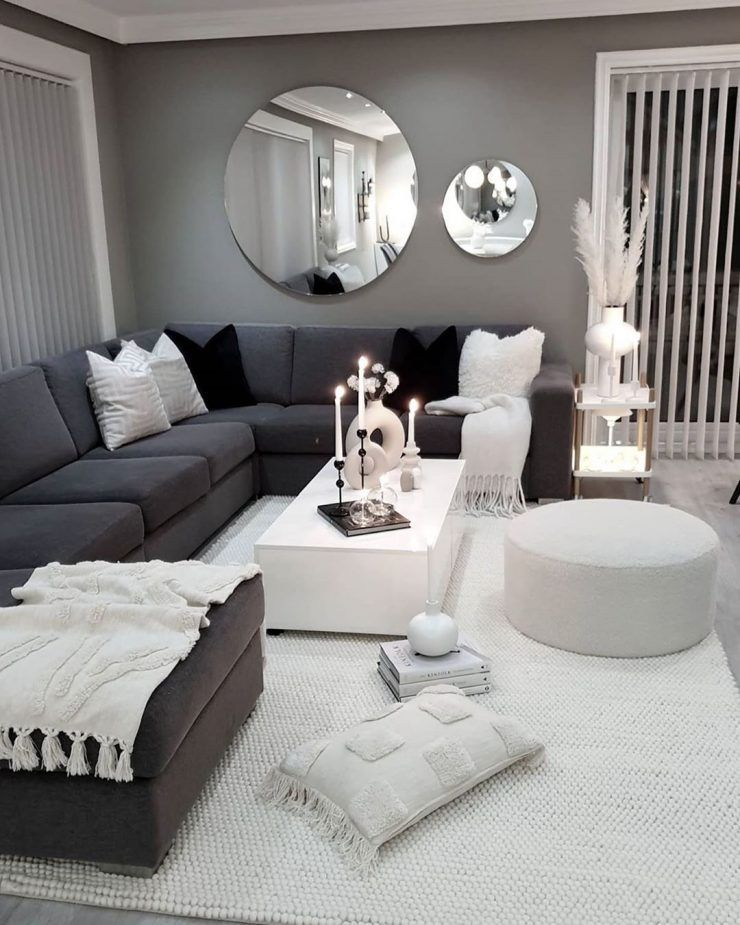 50 Grey Living Room Ideas You Must Look Crafome White Home Decor Home Decor Living Room Grey