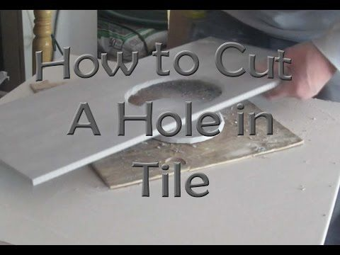 How To Cut A Hole In Ceramic Tile For Toilet Flange With An Angle
