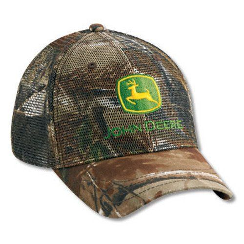 a8909337cbb Men s John Deere Realtree Hardwoods Full Mesh Hat Cap -  www.greentoysandmore.com