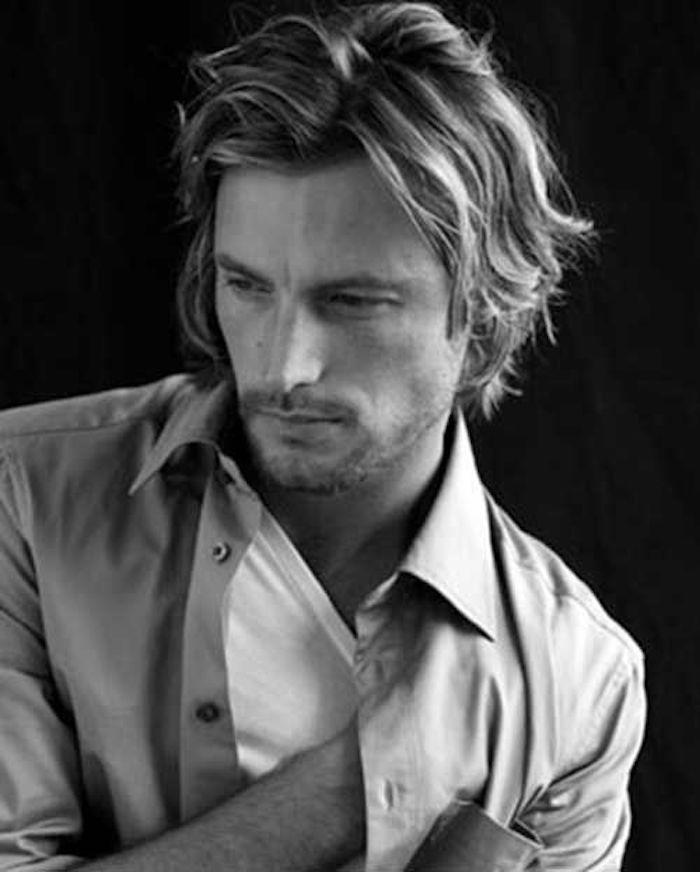 coupe de cheveux homme mi long en arriere blond #Menshairstyles | Gabriel aubry, Lange haare ...