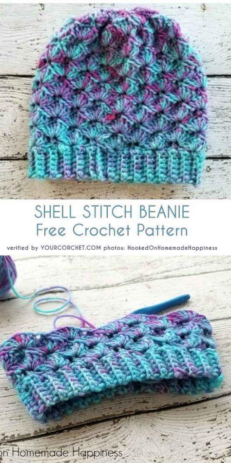 Photo of Shell Stitch Beanie Free Crochet Pattern – Diy Craft