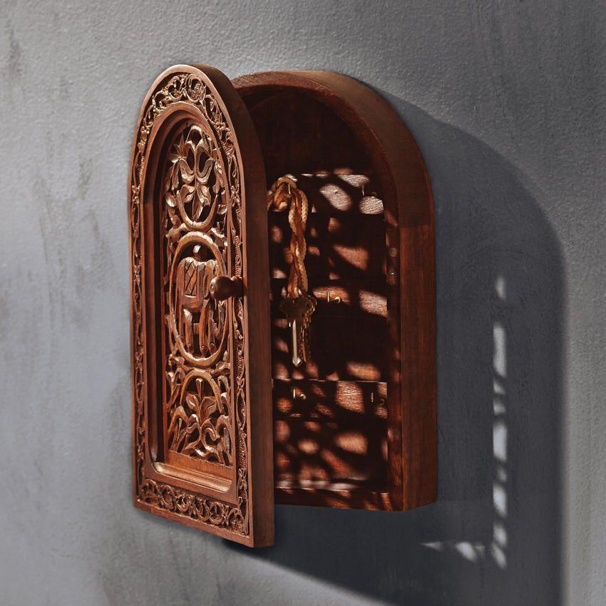 Carved Elephant Key Cabinet / Craft By World Market