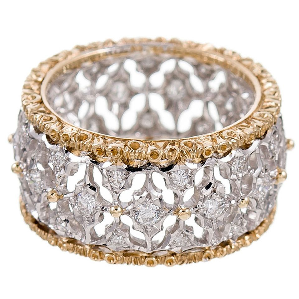 Buccellati Diamond Gold Eternity Ring From a unique