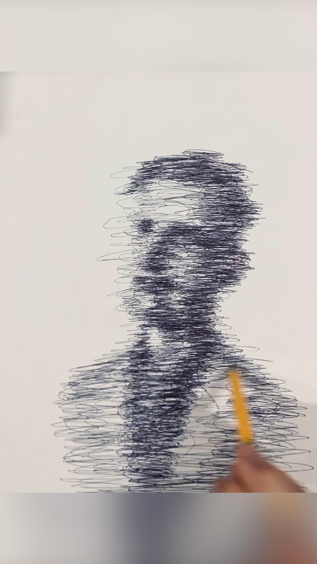 Ballpoint drawing pen time-lapse #art #artist #drawing #georgeorwell