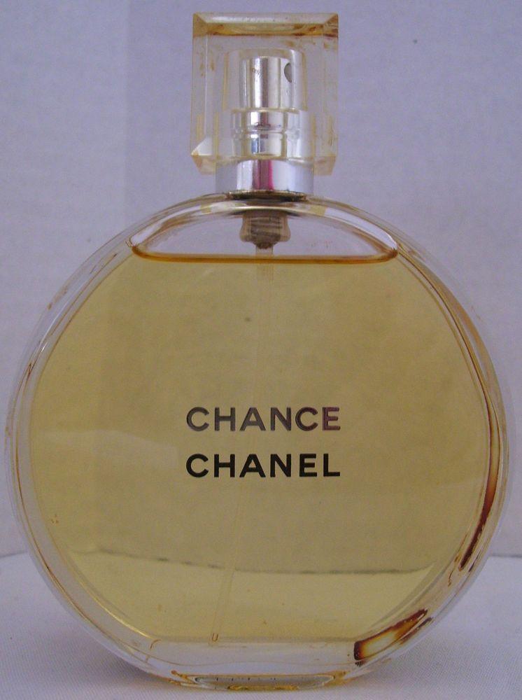 Chanel Chance 34oz Womens Eau De Toilette Spray Bottle 98 Full No