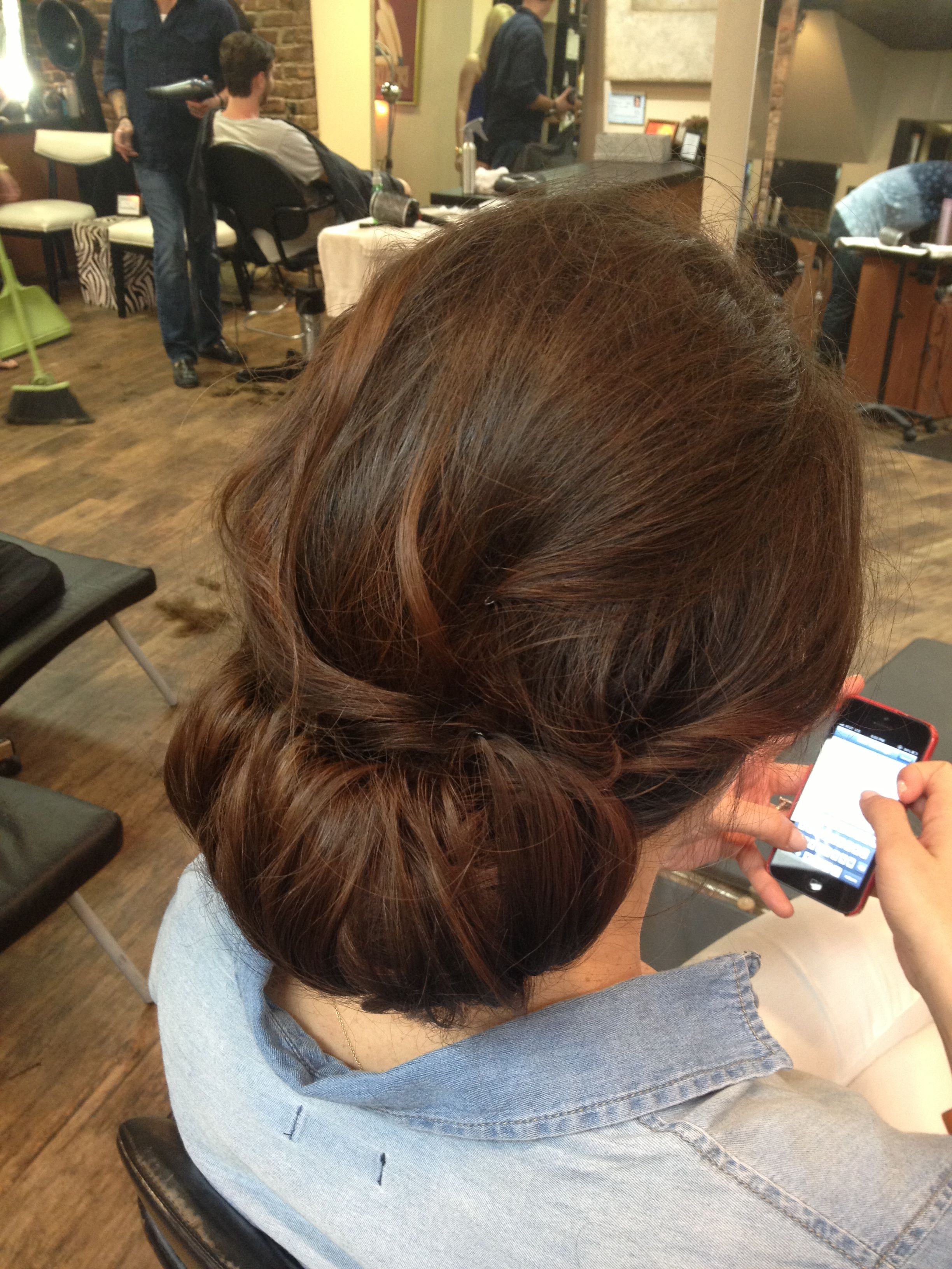 Gorgeous low and loose updo chignon rachel delaney this would look