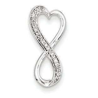 Infinity pendants 14k white gold 110 carat diamond infinity slide infinity pendants 14k white gold 110 carat diamond infinity slide pendant mozeypictures Gallery