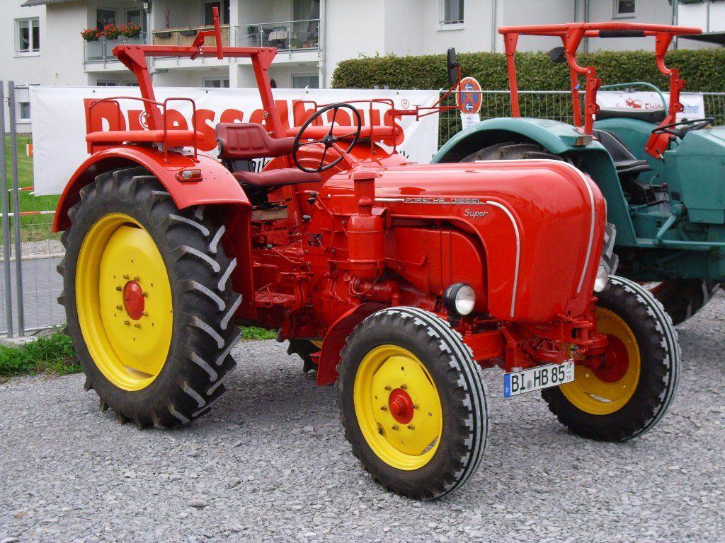 Traktor tractor Der Porsche sieht schnittig aus www