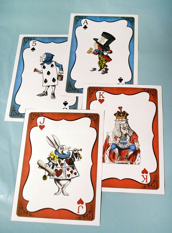 Alice In Wonderland Giant Cards INSTANT DOWNLOAD