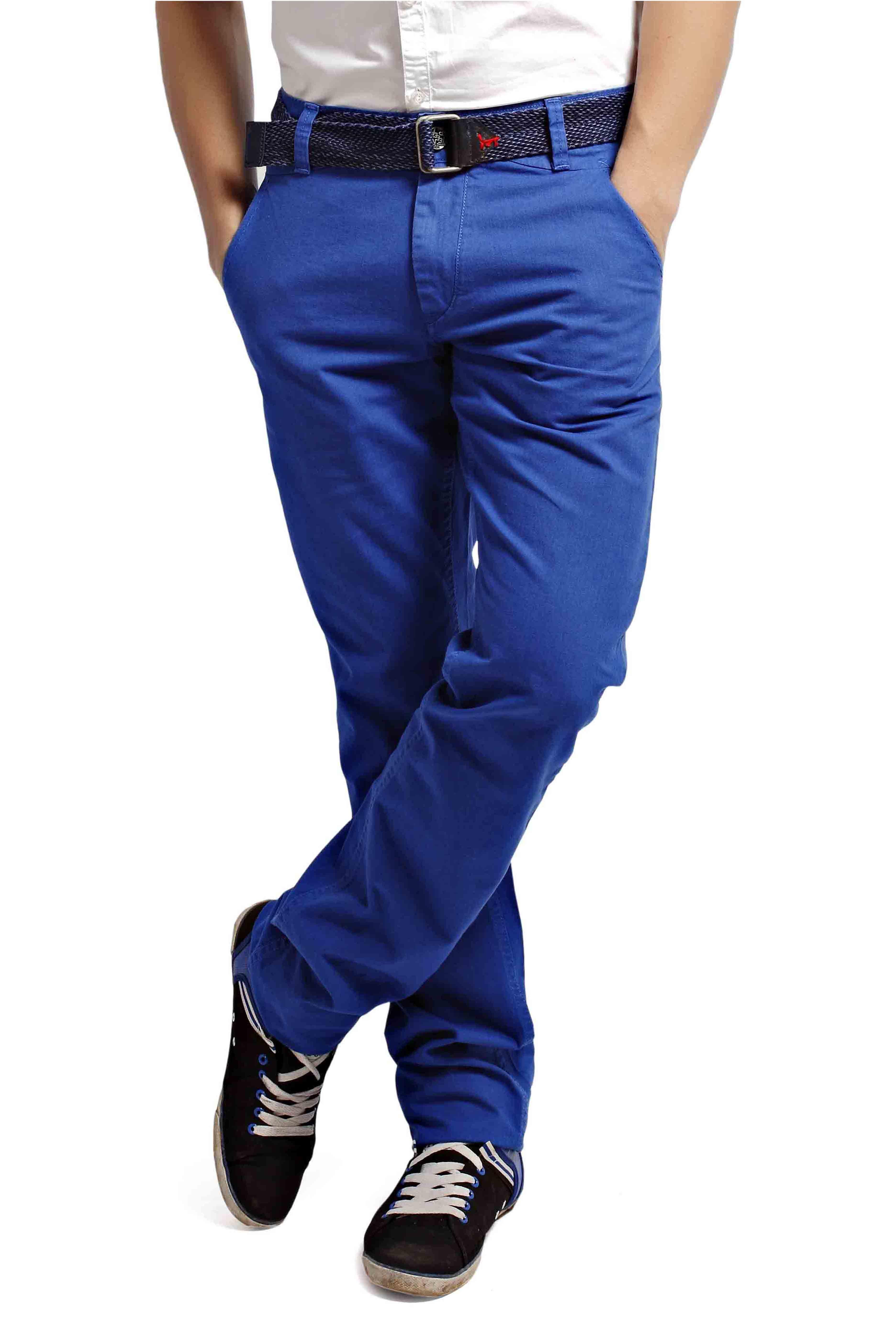 2018 New Men`s Stylish Retro Blue Patch Loose Harem Pants Men Denim Pants Taper Fit Jeans Side Striped Stripe Casual Harems Men's Clothing