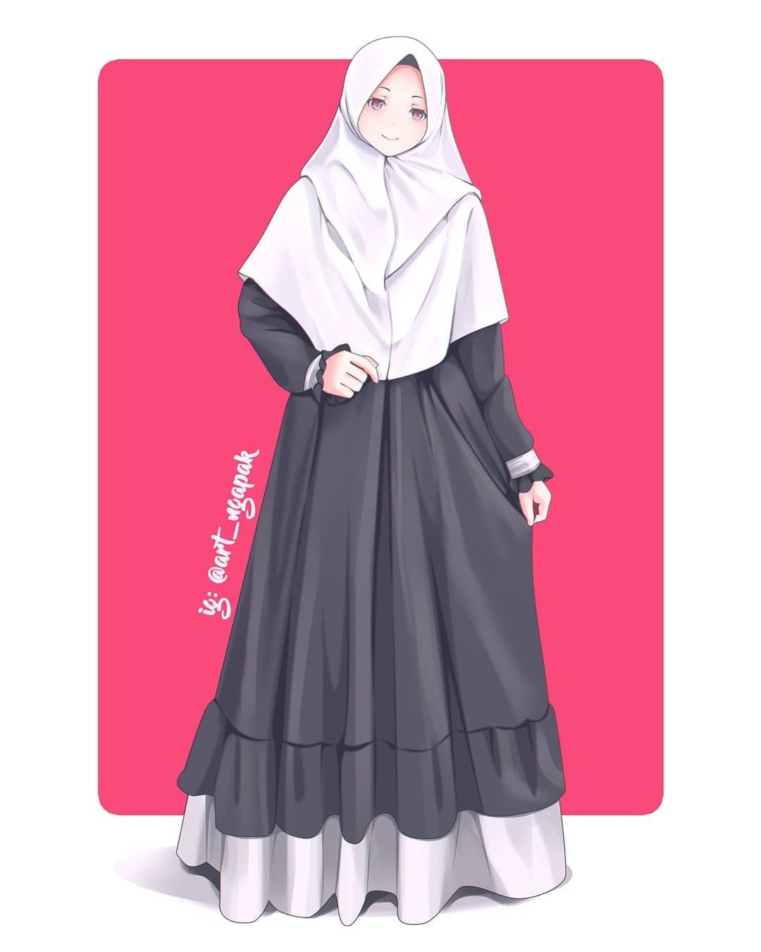 Pin Oleh Takia Di Anime Muslimah Elit Gadis Anime Model Pakaian Hijab Wanita