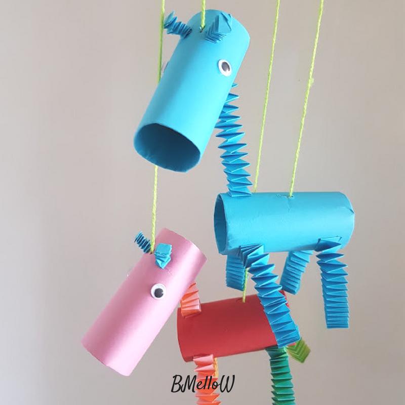 Knutselen Met Wc Rollen. Knutselen Met Kinderen. Giraf Marionet BmelloW