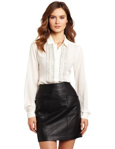 Cynthia Steffe Women's Shanna Blouse Cynthia Steffe. $238.95. Embellished front. Made in China. Dry Clean Only. Hidden placket. 100% Silk