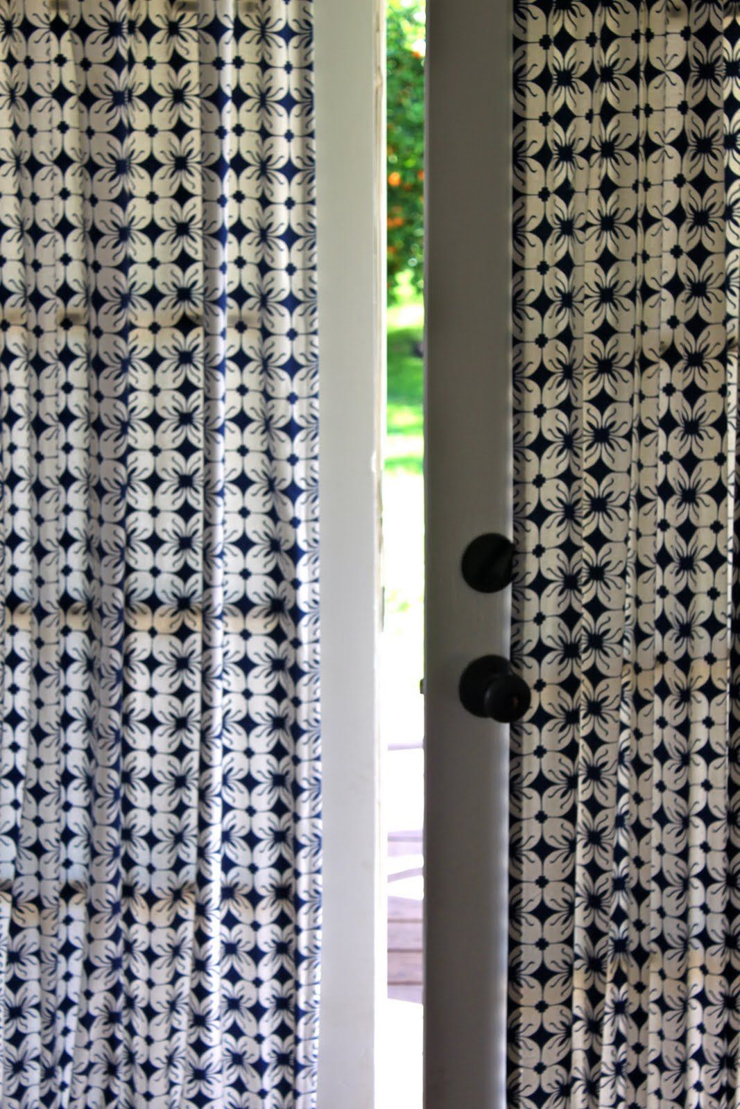 Diy French Door Curtain Panel Tutorial French Door Curtains
