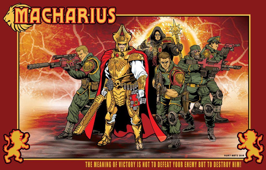 Macharius And Personal Guard By Lord Solar Deviantart Com On Deviantart Warhammer 40k Artwork Warhammer Art Warhammer 40k