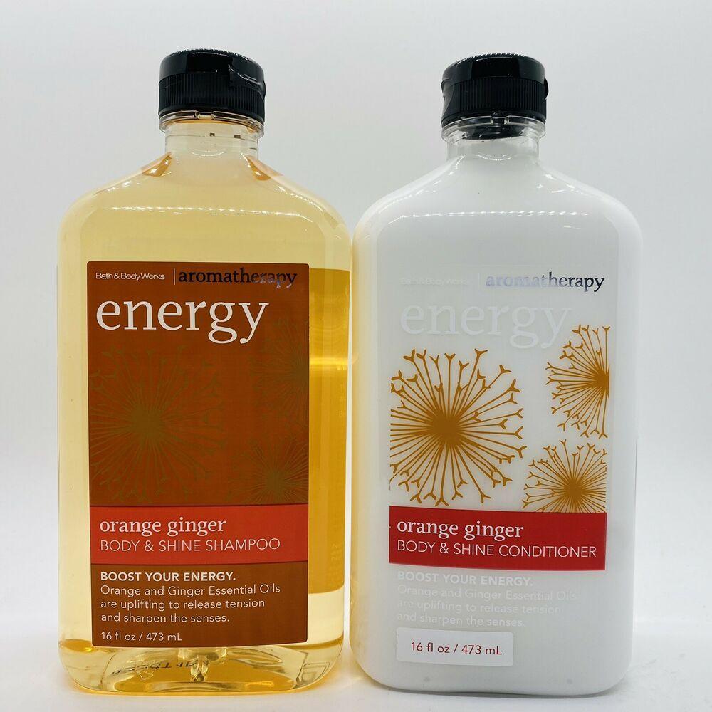 Bath Body Works Aromatherapy Energy Orange Ginger Shampoo Conditioner Set 16oz Ebay Shampoo Conditioner Set Bath And Body Works Bath And Body