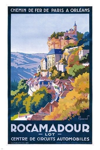 Rocamadour French Travel Tourism France Vintage Poster Repro FREE SHIP in USA