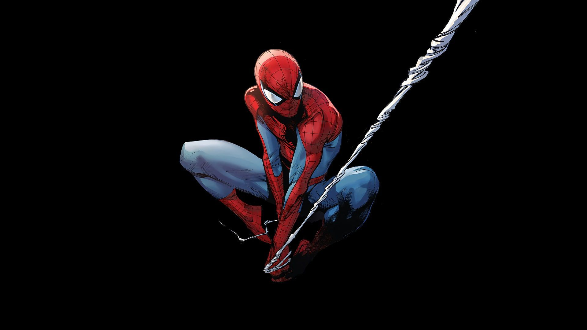Marvel Comics Spider Man Black Background Superhero 1080p Wallpaper Hdwallpaper Desktop In 2020 Spiderman Comic Art Spiderman Black Spiderman