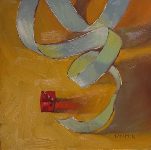"""Little red dice"" - Original Fine Art for Sale - © Claudia Hammer"