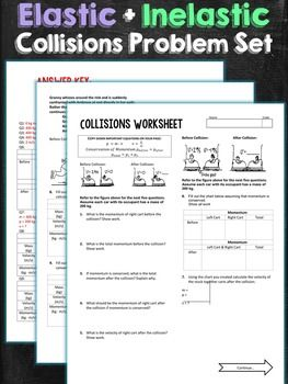 Collisions Problem Set Worksheet | Problem set, Worksheets ...