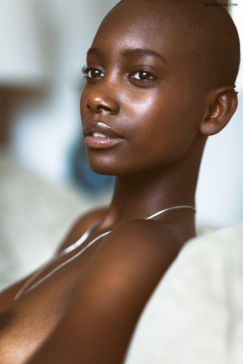 Dark skin shaved